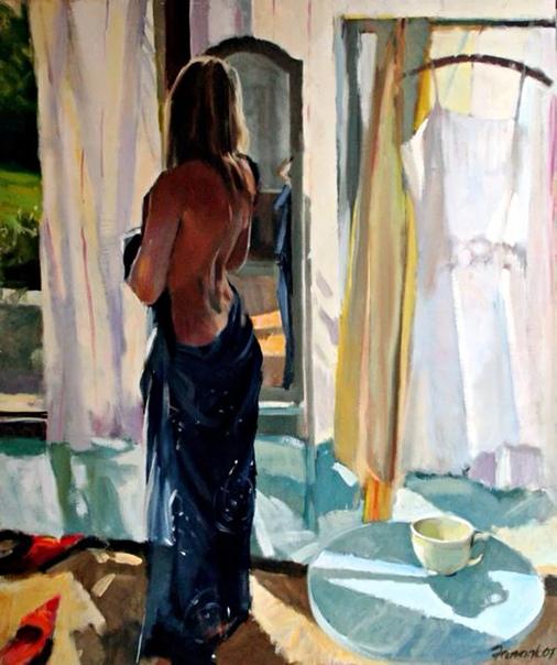 Дэвид Фаррант показывает на картинах символ женской красоты и совершенства. Подобно Веттриано или Хопперу, художник вдохновлён сценами из каждодневной жизни людей и их общением с окружающим