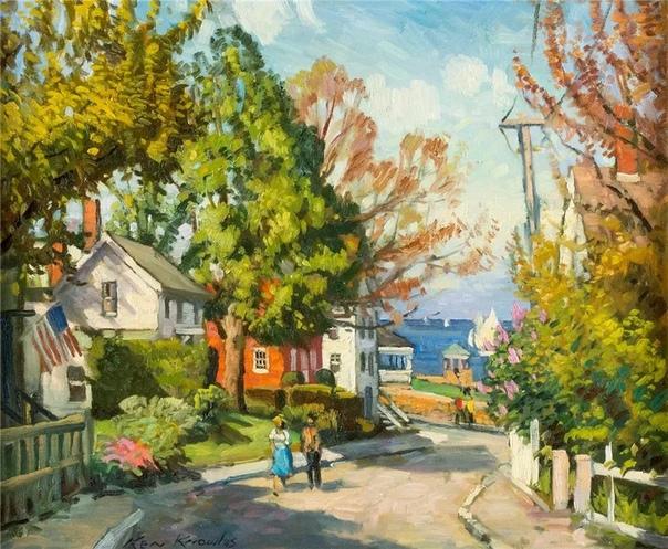 Кеннет Ноулз - американский художник, родившийся в 1968 году в Рокпорте, Массачусетс Кеннет пишет картины в стиле импрессионистов и на открытом воздухе в течение 24 лет. Его профессиональный