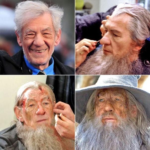 Редкие снимки, на которых запечатлены поразительные превращения актеров в персонажей.