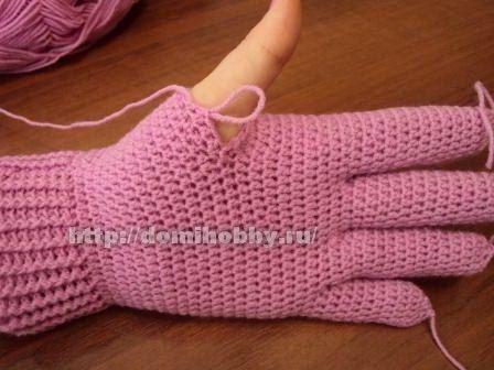 Перчатки, вязаные крючком