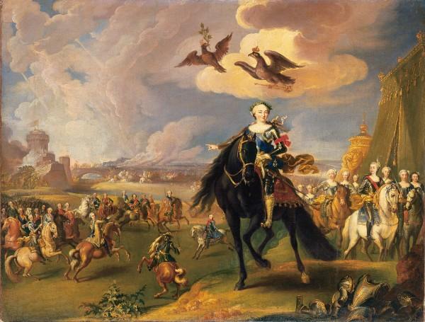 «Конный портрет Елизаветы Петровны со свитой», Георг Гаспар Иосиф фон Преннер