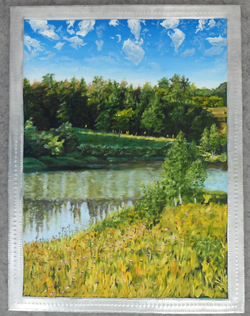 Картины Беляева А. И. в технике живописи на алюминиевой пластине с рельефом