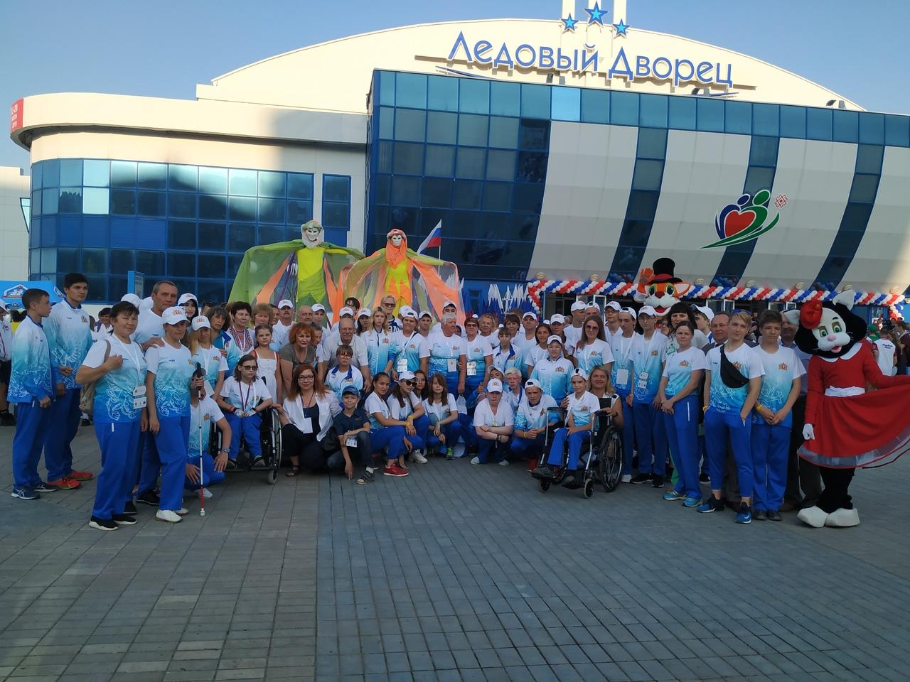 Команда Свердловской области в Йошкар-Оле на III Всероссийской летней спартакиаде инвалидов
