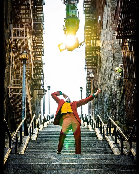Хоакин Феникс творит на съемочной площадке «Джокера», 2018 год