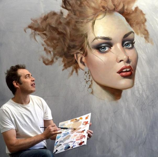 Современный канадский живописец Кай Маккол рисует свои картины в сюжетах портретного сюрреализма, но придает им реалистичные черты