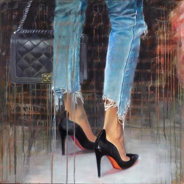 Картины Тауруа красиво и агрессивно написаны, они чувственно эротичные Ее девочки гламурные, и это отражение ее собственной жизни, так как она была Мисс Франция 1978 в свои 18 лет. Палитры