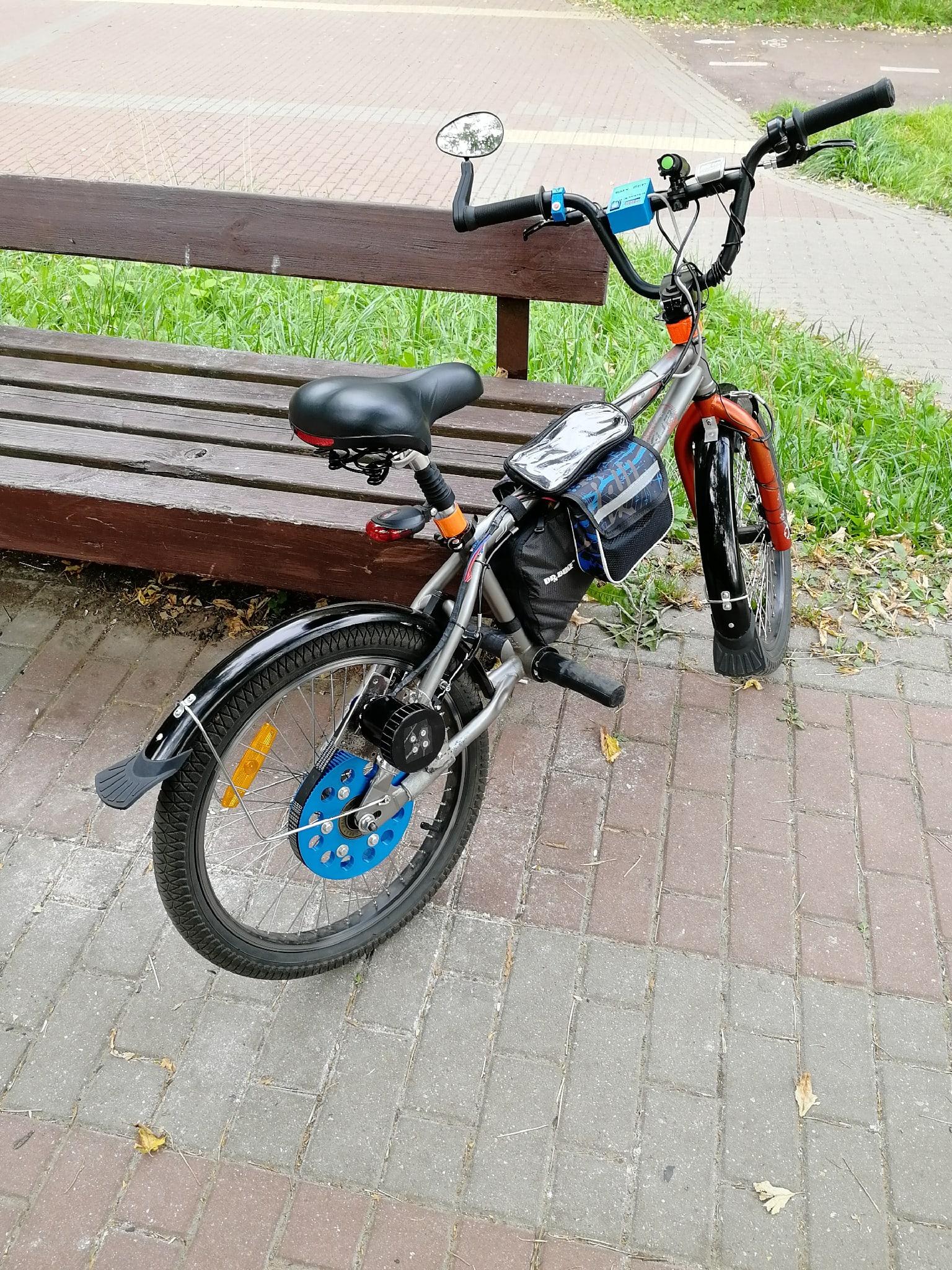 Велосипед с разной размерностью колес ;)