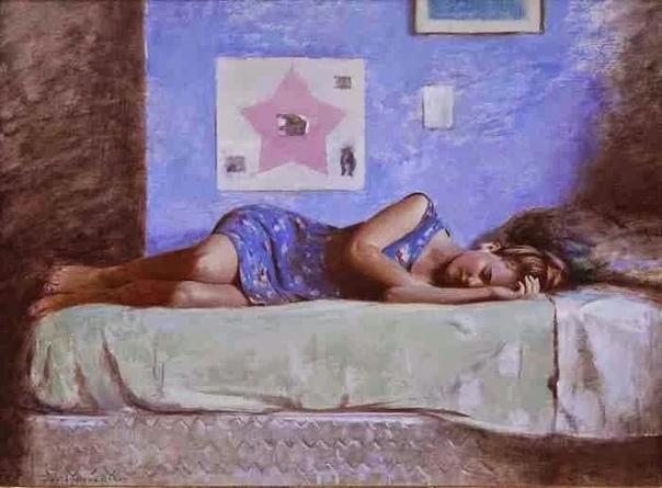 Дэвид Грэм Бейкер (1968 г р.)-современный художник из США южноафриканского происхождения специализирующийся на сюжетной фигуративной живописи масляными красками на большом холсте.Дэвид выпускник