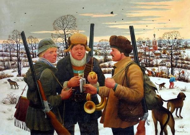 Много художников пишет про деревенскую жизнь и село, но не каждый художник сможет изобразить это так ярко с добрым юмором и душевно У Алексея Смирнова-Воскресенского это получилось. Смотришь на