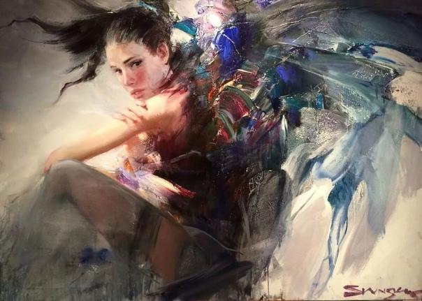 Иван Славинский. Его работы наполнены какой-то магией её нельзя назвать ни белой, ни чёрной, настолько это особый вид колдовского искусства, правила которого известны только